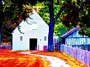Country Dirt Roads Prints - Pathway To The Stables Print by Annie Zeno