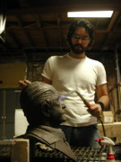 Brown Sculptures - Patination process by John Gibbs