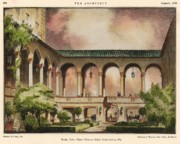 Gables Posters - Patio at Miami Biltmore Hotel. Coral Gables Florida 1926 Poster by Schultze and Weaver