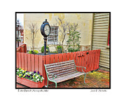 Patio Prints - Patio Bench Print by Jack Schultz