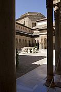 Patio Prints - Patio de los Leones Nasrid Palaces Alhambra Granada Print by Mal Bray