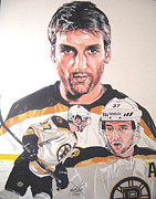 Boston Bruins Drawings - Patrice Bergeron Boston Bruins by Neal Portnoy