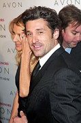 Dempsey Framed Prints - Patrick Dempsey At Arrivals For The Framed Print by Everett