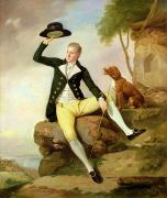 Sitting On Rock Prints - Patrick Heatly Print by Johann Zoffany