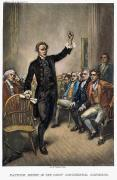 Congress Metal Prints - Patrick Henry (1736-1799) Metal Print by Granger