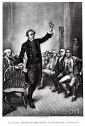 Opposition Photo Framed Prints - Patrick Henry, American Patriot Framed Print by Photo Researchers