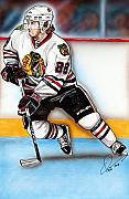 Hockey Mixed Media Prints - Patrick Kane Print by Dave Olsen
