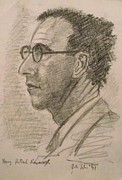 Author Drawings Metal Prints - Patrick Kavanagh Metal Print by John  Nolan