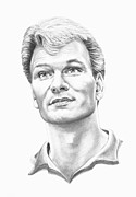 (murphy Elliott) Drawings - Patrick Swayze by Murphy Elliott
