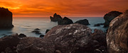 Patrick Framed Prints - Patricks Point Dusk Panorama Framed Print by Greg Nyquist