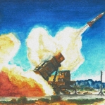 Artillery Mixed Media Posters - Patriot Fire Poster by Erin Smith