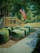 Patriotism Paintings - Patriot Next Door by Shirley Braithwaite Hunt