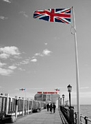 Amusements Prints - Patriot Of The Pier Print by Sarah Clark