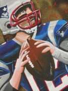 Patriots Painting Originals - Patriot Punch by Maggie Marquis
