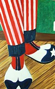 Patriot Shoes Print by M and L Creations
