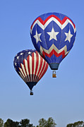 Ascension Parish Prints - Patriotic Balloons Print by Helen Haw