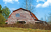 Susan Leggett Metal Prints - Patriotic Barn Metal Print by Susan Leggett