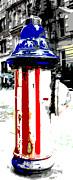 Patriotic Fire Hydrant Print by Anahi DeCanio