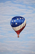 Hot Air Balloon Prints - Patriotic Hot Air Balloon Print by Carol Groenen