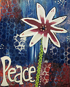 Patriotic Mixed Media Originals - Patriotic Peace by Jo Claire Hall