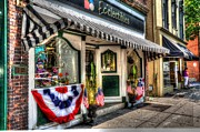 July 4th Framed Prints - Patriotic Street Framed Print by Debbi Granruth
