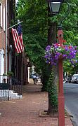 Philadelphia Photo Prints - Patriotic Street in Philadelphia Print by Debbi Granruth