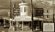 South Philadelphia Posters - Pats King of Steaks - Philadelphia Poster by Bill Cannon