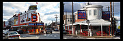 South Philly Prints - Pats vs Genos South Philly Cheese Steaks  Print by Bill Cannon