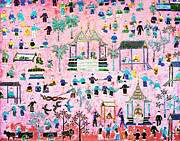 Interior Scene Prints - Pattern of art in Asia Print by Setsiri Silapasuwanchai