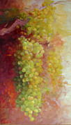 Vineyards Photo Originals - Pattern of Grapes by Gail Salituri