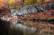 Trio Prints - Patterns In The Stream Print by Edward Kreis