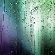 Color Purple Prints - Patterns Of Condensation On A Coloured Background Print by Anthony Bradshaw