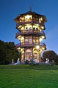 Twilight Prints - Patterson Park Pagoda. Baltimore Maryland  Print by Matthew Saindon