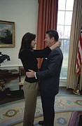 Conservatives Prints - Patti Davis Embraces Her Father Print by Everett