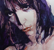 Face  Paintings - Patti Smith by Paul Lovering