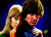Eric Clapton Art - Pattie Boyd and George Harrison by Che Rellom