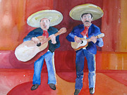 Band Painting Originals - Pattys Mariachi Men by Joe Lanni