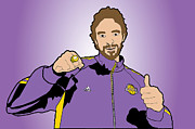 Basketball Digital Art Originals - Pau Gasol 2010 Championship Ring by Tomas Raul Calvo Sanchez