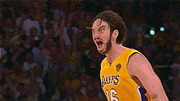 Lakers Digital Art Framed Prints - Pau Gasol Framed Print by Zaida Ortega