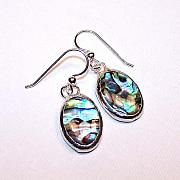 Handcrafted Jewelry - Paua Shell Earrings by Kelly DuPrat