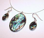Handcrafted Jewelry - Paua Shells  by Kelly DuPrat