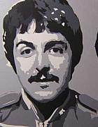 Paul Mccartney Portrait Paintings - Paul 3pc. in 4pc. Sgt. Pepper set by Michael James  Toomy