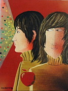 Pop Art Prints Painting Originals - Paul and John by Joe Hawthorn
