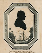 Captain America Photo Prints - Paul Cuffe 1759-1817, Silhouette Print by Everett
