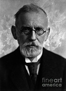 Historical Physician Prints - Paul Ehrlich, German Immunologist Print by Science Source