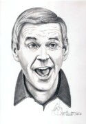 Famous People Drawings - Paul Lynde by Murphy Elliott