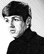 Paul Mccartney Drawings - Paul McCartney 1964 by Sheryl Unwin
