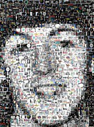 Fab Four  Metal Prints - Paul McCartney Beatles Mosaic Metal Print by Paul Van Scott