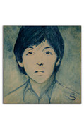 Fab Four Framed Prints - Paul McCartney Framed Print by Clint  B  Smith