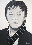 Outsider Art Paintings - Paul McCartney by Eamon Reilly